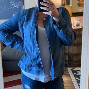 Chico's Denim Bomber Jacket